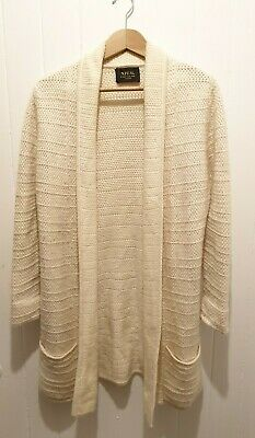 N.Peal Knitted Ivory 50%Cashmere 50% Soft Wool Cardigan Wrap. *See Description • 44£