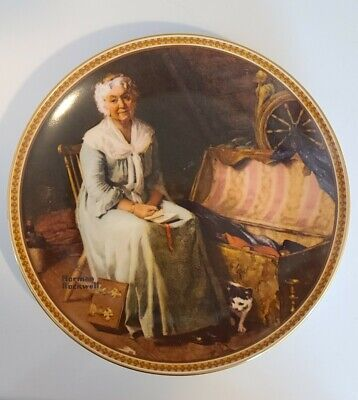 """$ CDN25.11 • Buy NORMAN ROCKWELL Knowles """"Reminiscing In The Quiet"""" Rediscovered Women Plate"""