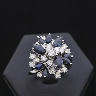 AU1962.95 • Buy Ring Nova Gold 18KT Bright 0.96 CT Natural Doesn'T Treated Sapphires 2 CT