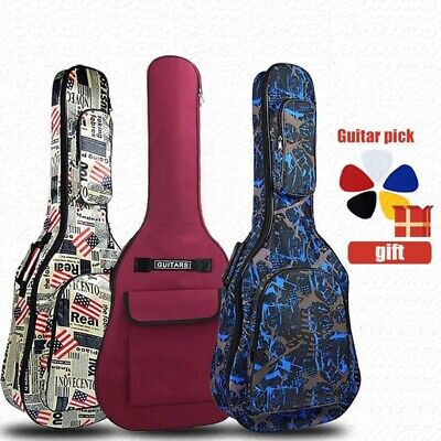 $ CDN44.27 • Buy Guitar Case Waterproof Backpack Oxford Acoustic Folk Gig Bag Cover With Shoulder