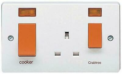 £14.99 • Buy Crabtree 45A DP Slimline Cooker Control Unit With Neon Indicators 4521/31 NEW