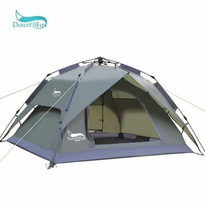 AU14.99 • Buy Automatic Camping Tent, 3-4 Person Family Tent Double Layer Instant Setup Tent