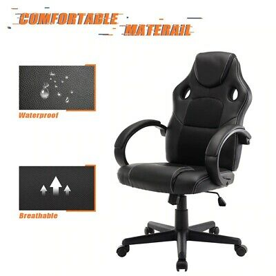 AU1415.96 • Buy Office Chair PU Leather Desk Gaming Chair, Ergonomically Adjustable Racing Chair