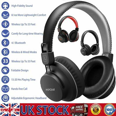 Mpow Wireless Bluetooth Headphones W/ Noise Cancelling Over-Ear Stereo Earphones • 20.89£