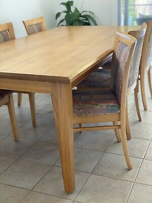 AU50 • Buy 8 Seater Solid Timber Dining Table With 6 Dining Chairs