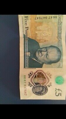 Ak 47 5 Pound Note 47x3 In Number • 100£