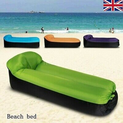 £11.98 • Buy Inflatable Sun Lounger Outdoor Furniture Camping Lazy Bag Air Sofa Beach Bed UK