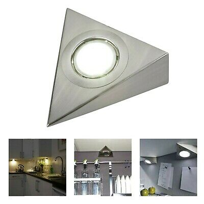 £7.89 • Buy Mains LED Kitchen Under Cabinet Triangle Lights Unit Cupboard Counter Downlight