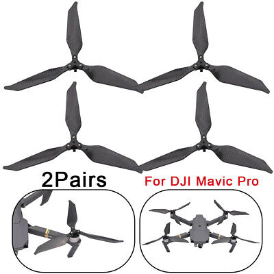 AU37.93 • Buy Low-Noise 1/2Pair Full Carbon Fiber Propellers 3 Blade For DJI Mavic Pro Drone #