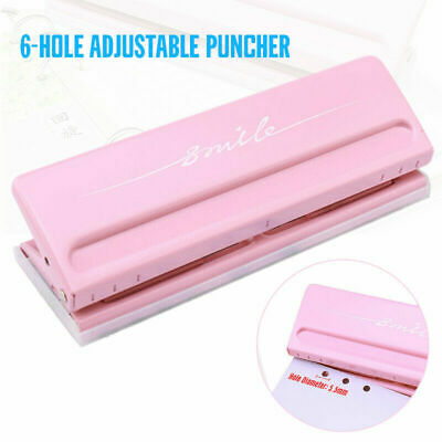 AU32.94 • Buy Adjustable Paper Punch Tool Puncher 6-Hole Scrapbooking Six Ring Binder 6 Sheet