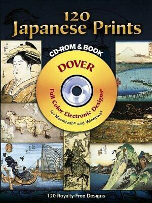 £7.24 • Buy 120 Japanese Prints CD-ROM And Book (Dover Electronic Clip Art) By Hiroshige…