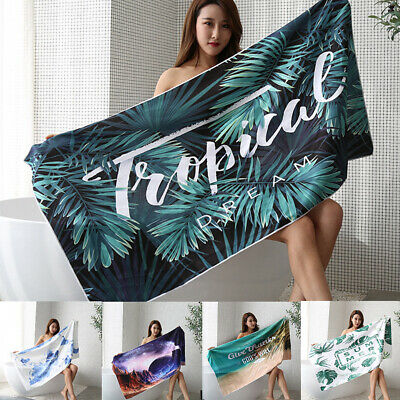 AU13.94 • Buy Extra Large Microfibre Outdoor Travel Beach Towel Swimming Quick Dry Sand Free