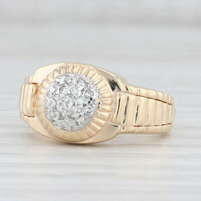 AU577.09 • Buy Diamond Cluster Ring 14k Yellow Gold Size 6
