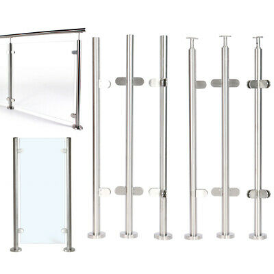 £69.95 • Buy Stainless Steel Glass Balustrade Railing Posts Clamp For Garden Balcony Decking