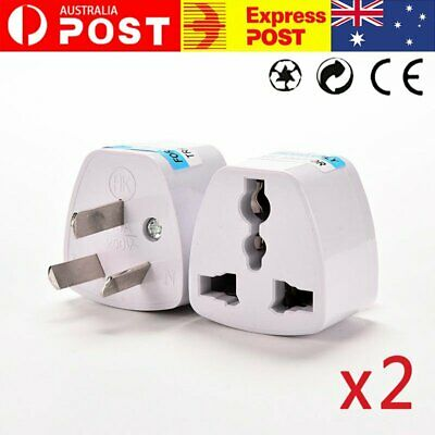 AU10.86 • Buy 2X US UK EU To AU Australia Power Plug AU European Adaptor Converter Travel NEW