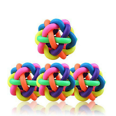 AU11.99 • Buy Dog Rope Chew Toys Pet Puppy Teeth Knot Ball Rubber Teething Play Toys Chew Bite