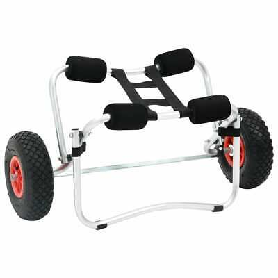 AU89.99 • Buy VidaXL Kayak Trolley Aluminium Collapsible Canoe Carrier Transport Cart Dolly