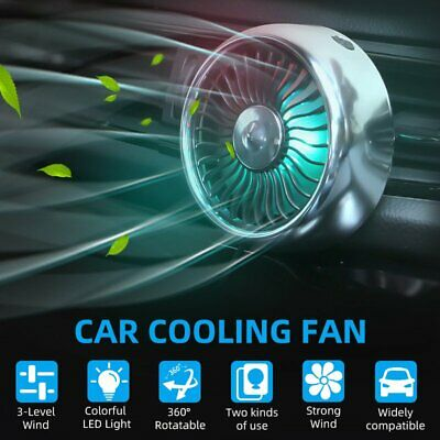 £12.59 • Buy Car Air Conditioning Fans Vent USB Fan 5V Cooling Wind Outlet Fan Clip On Silent