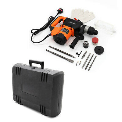 £69.99 • Buy 1600W 240V Impact Hammer Drill Variable Speed Electric Concrete Breaker Bits Set