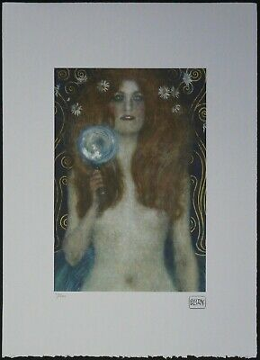 $ CDN1.50 • Buy #30/200 Gustav Klimt 'Nuda Veritas' 50 X 70 Cm Signed Limited Lithograph