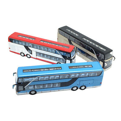 $ CDN30.25 • Buy 1:32 Simulated Alloy Double Decker Bus Pull Back Model Toy With Sound Light Bus