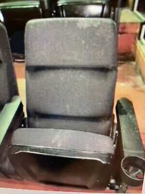 Lot 1000 Used HOME THEATER SEATING Real Cinema Movie Chairs Black Theater Seat • 54.38£