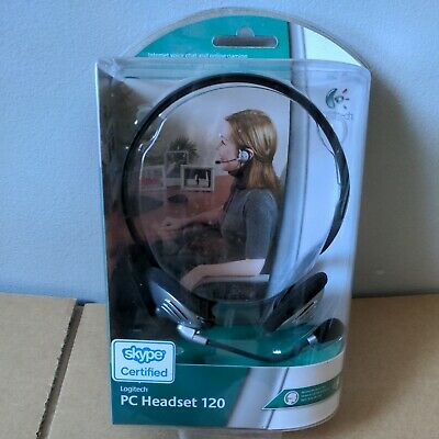 Logitech PC Headset 120, Skype Cert, Behind-the-head Style, Noise Cancelling Mic • 14.99£