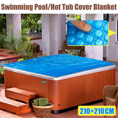 £41.99 • Buy 7ft X 7ft Heat Retention Solar 600Micron Geo Bubble Spa Hot Tub Thermal F/ Pool