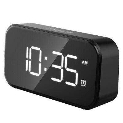 AU21.69 • Buy Digital Mirror Alarm Clock Snooze Dimmable LED Display Light Time Bedside