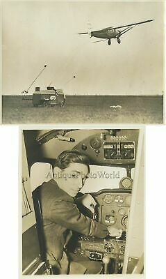 $35 • Buy Airplane Postal Mail Delivery Pilot 2 Antique Photos