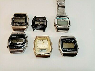 $ CDN12.52 • Buy Vintage Lot Of 6 LCD Digital Watch - Sanyo,Casio,Seiko And Other