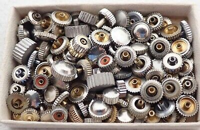 $ CDN12.49 • Buy Lot Vintage Stainless Steel Wristwatch Watch Case Movement Crowns Parts