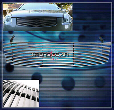 $42.95 • Buy Front Main Upper Billet Grille Grill Aluminum Polished For 04 05 06 Maxima Se Sl