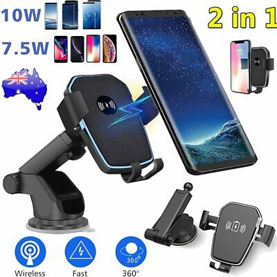 AU20.89 • Buy AU Fast Qi Wireless Car Charger Dock Stand Bracket Holder For IPhone 8 X XS XR