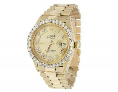 $ CDN5952.70 • Buy Mens Rolex 18K Yellow Gold Presidential Datejust 36MM Diamond Watch