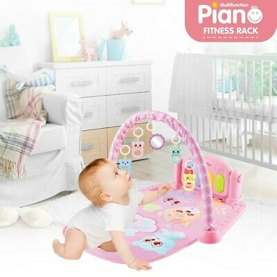 £18.20 • Buy Baby Game Pad Music Pedal Piano Fitness Rack Crawling Mat With Hanging Play Toy