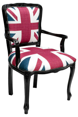 £1825 • Buy Set Of 6 Union Jack Style Carver Dining Chair British Flag Design Front & Back