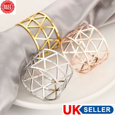 £7.55 • Buy 5/10 X Alloy Napkin Rings Wedding Decor Dinner Table Napkin Party Accessories