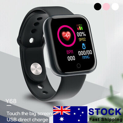 AU15.45 • Buy Sports Smart Watch Heart Rate Blood Pressure Monitor Waterproof For IOS Android