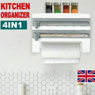 £8.29 • Buy Cling Film And Kitchen Foil Dispenser Paper Towel Roll Holder Wall Mounted Rack
