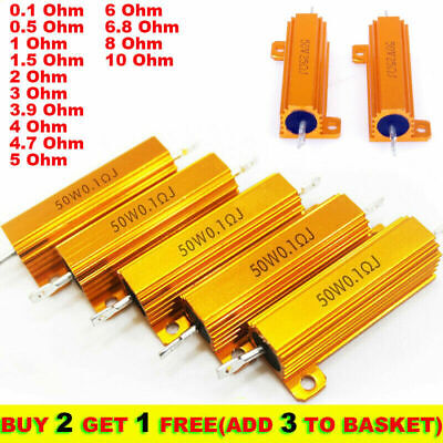 $6.09 • Buy 50W 0.1-10 Ohm Power Wirewound Resistor Inverter LED Light Frequency Divider NHY