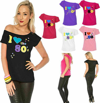 £5.99 • Buy Women I Love The 80's T Shirt Retro Pop Star Ladies Hen Fancy Party Top Outfit