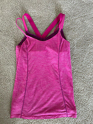 $ CDN17.48 • Buy LULULEMON Size 8 Pink Tank Shirt Top Strappy Women's Yoga Athletic
