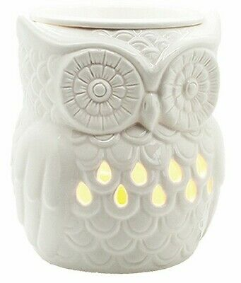 OWL Electric Wax/Oil Melter Burner With Backlight - White • 17.99£