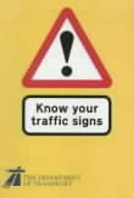 £2.19 • Buy Know Your Traffic Signs (Hmso), Transport,Dept.of, Used; Good Book