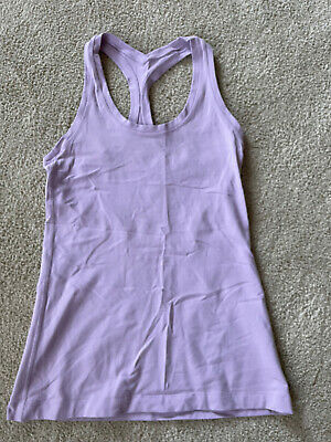 $ CDN20 • Buy LULULEMON Size 6 Or 8 Purple Tank Shirt Top Women's Yoga Athletic