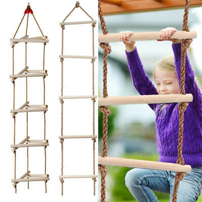 £21.96 • Buy Kids Climbing Frame Rope Ladders Outdoor Toys Wooden Playhouse Slide Accessories
