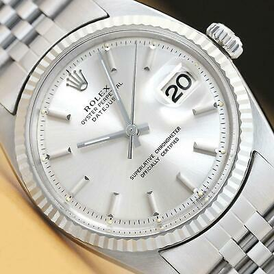 $ CDN4932.98 • Buy Rolex Mens Datejust Silver Dial 18k White Gold & Stainless Steel Watch