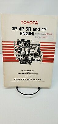 AU44.69 • Buy Toyota Forklift Engine 3P,4P,5R,4Y, Operators Manual And Maintenance