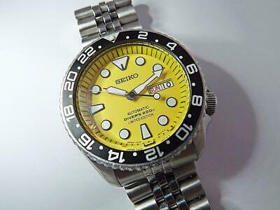 $ CDN36.30 • Buy SEIKO SCUBA DIVER SKX007. Yellow 'SUMO' Dial, Automatic, Custom Mod.7S26-0020.